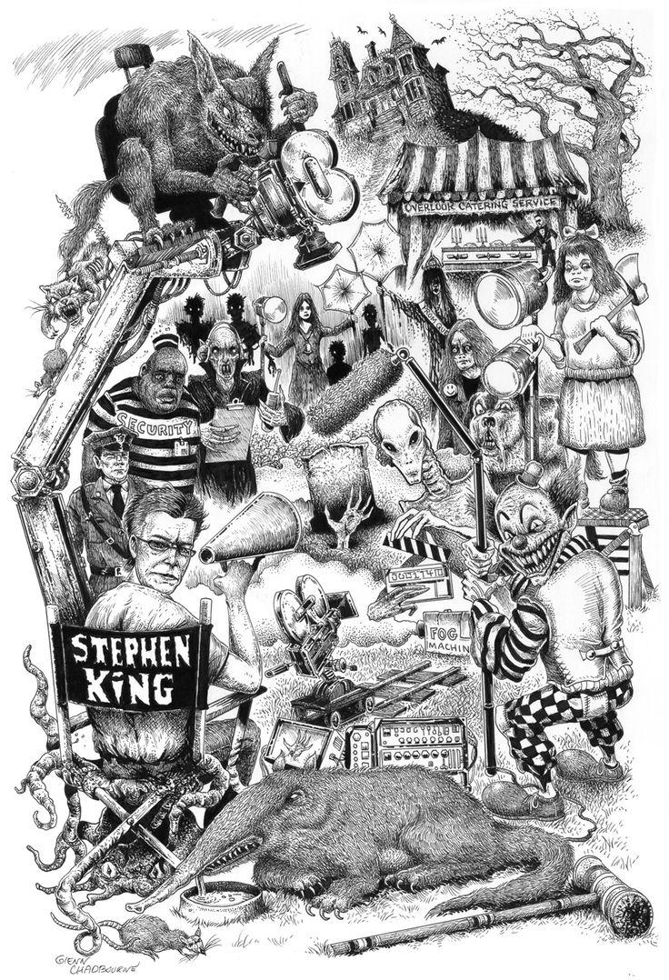 Glenn Chadbourne's Stephen King Movie Characters Art Print