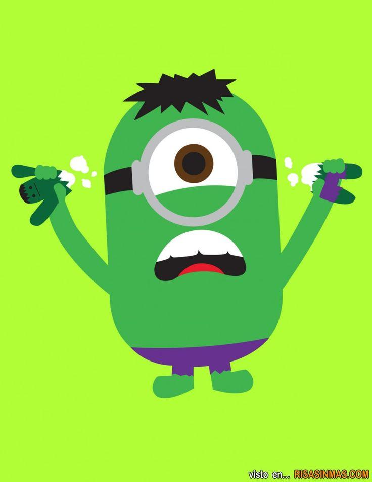 Minions como superhéroes: Hulk.