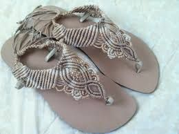 Resultado de imagen para zapatos tejidos en macrame