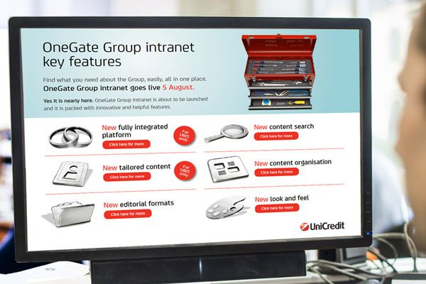 UniCredit OneGate tra le migliori intranet aziendali al mondo