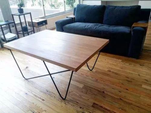 mesa ratona de madera y hierro! unicas precio de fabrica.