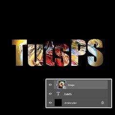 astuces Photoshop Combiner des images sur texte