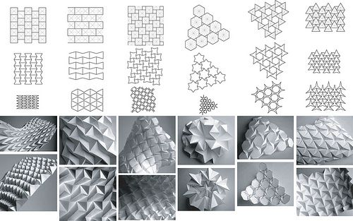 Folding Patterns by Daniel Piker, via Flickr    Diseño original de teselados por Ron Resch.