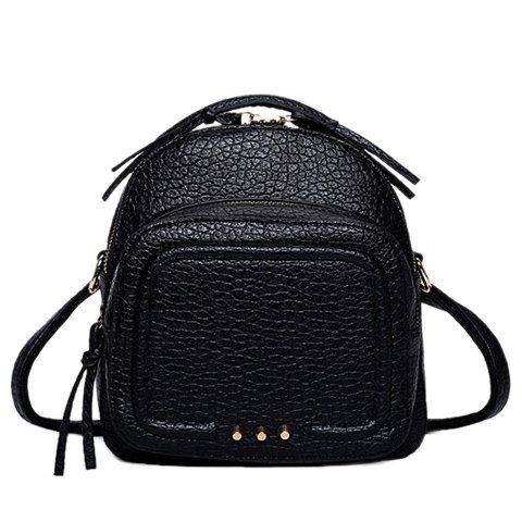 Preppy Style Women's Satchel With Stitching and Solid Color Design #shoes, #jewelry, #women, #men, #hats