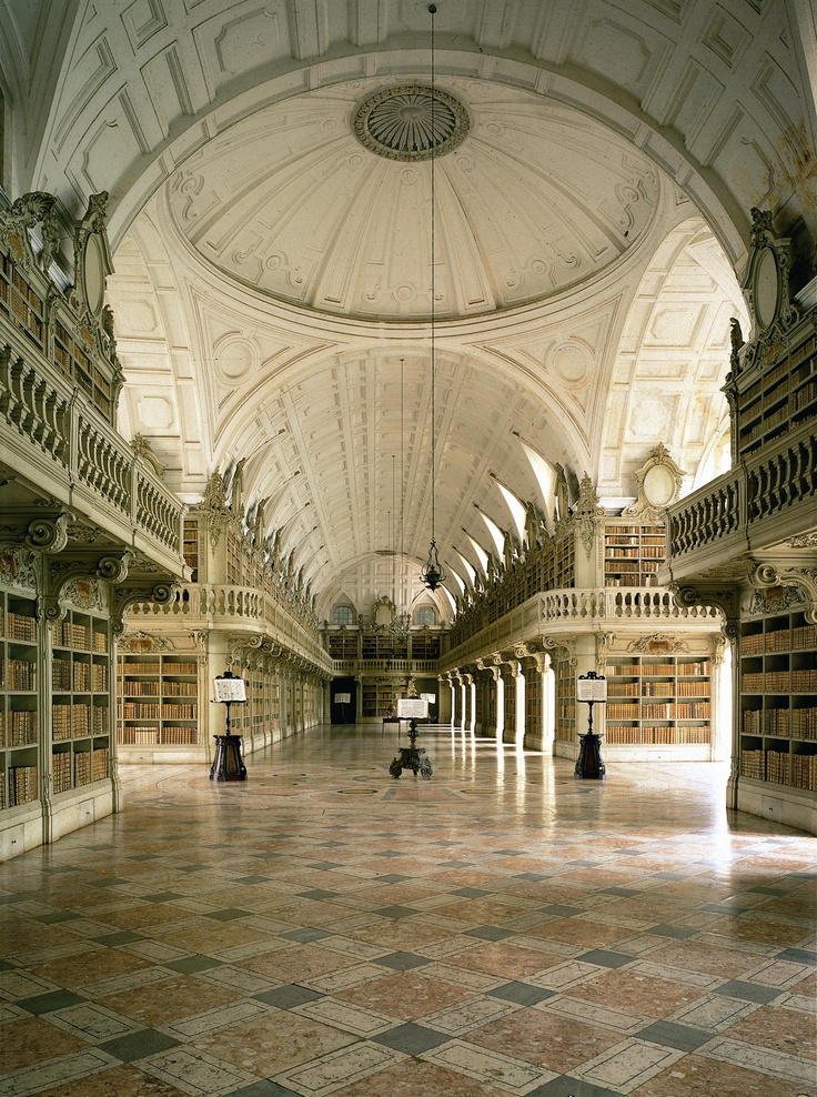 The great Library of Mafra Convent, Lisbon Region, Portugal