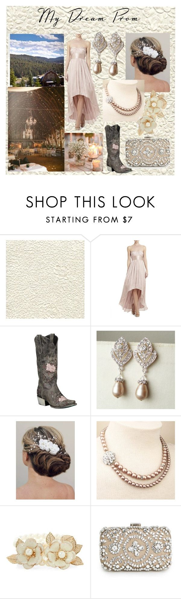 """""""Country Prom"""" by lemcelfresh ❤ liked on Polyvore featuring BCBGMAXAZRIA, Lane, MANGO, rustic, country, Prom, dressy and mydreamprom"""