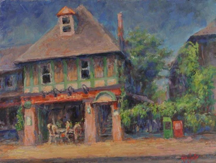 Cafe in Summer – 14 Bells Fine Art Gallery