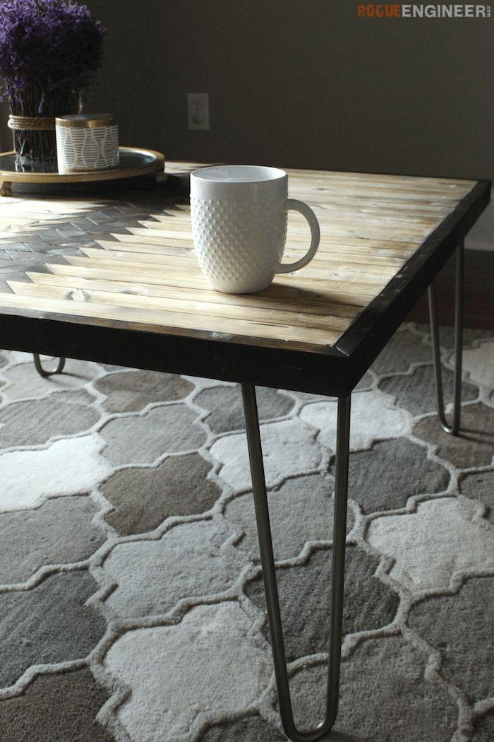 Tribal Hairpin Coffee Table - Free DIY Plans | rogueengineer.com/ #DIYFurnitureP...