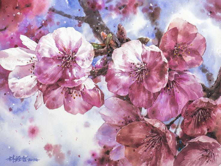 17 Best images about ART: Flowers - pencil. pastel, oil, acrylic, watercolor ...