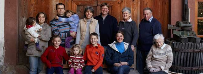 The Ziereisen family pictured at their family run vineyard in Baden www.treasuresofeuropetours.com