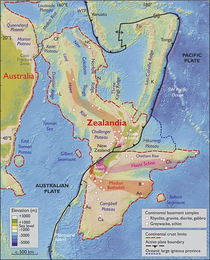 A ZELÂNDIA é dividida em segmentos norte e sul por duas placas tectônicas: a Placa Australiana e a Placa do Pacífico. Essa divisão torna a região mais parecida com vários fragmentos continentais do que com uma terra unificada. Mas os pesquisadores apontam que a Arábia, a Índia e partes da América Central têm divisões semelhantes, e ainda são consideradas partes de continentes maiores.
