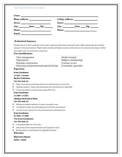 Event-Coordinator-Resume-Template
