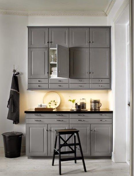 new collection IKEA kitchen units, designs and reviews, small kitchen in grey