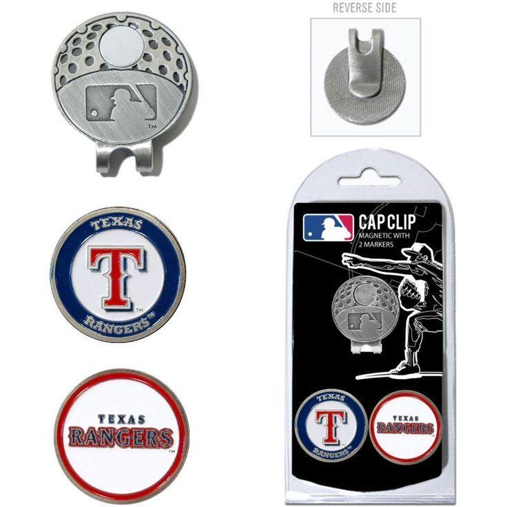 Team Golf Texas Rangers Cap Clip and Marker Set, Nickel
