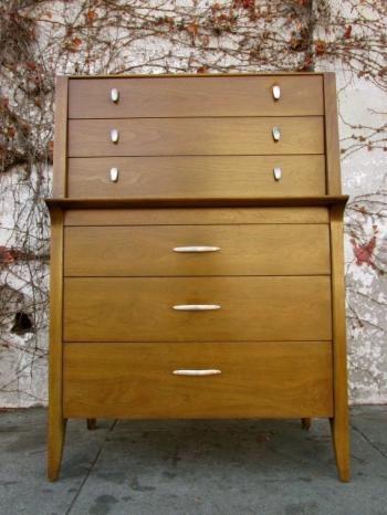 image of gorgeous mid century drexel profile highboy dresser