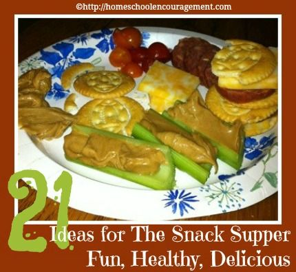 21 Ideas for a Simple Snack Lunch or Snack Supper - this is really easy, and most healthy way to serve quick meals to your children.  from #Homeschool Encouragement