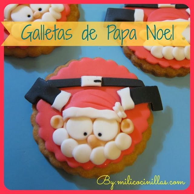Tutorial Galletas de Papa Noel paso a paso, galletas navideñas, facilisimo, ademas Video receta, tutorial, fondant #sinlactosa