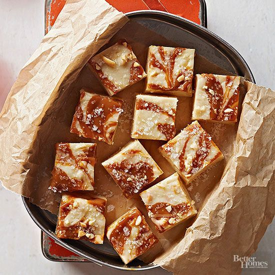 "This gorgeous slow cooker fudge puts the ""candy"" in ""eye candy"" -- mostly due to its pretty swirls of dulce de leche. As a sweet bonus, it's also six-ingredient easy./"