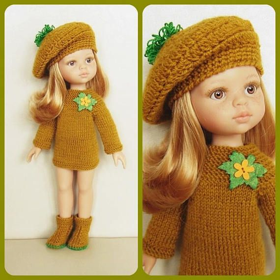 Paola Reina outfit sweater hat shoes doll clothes