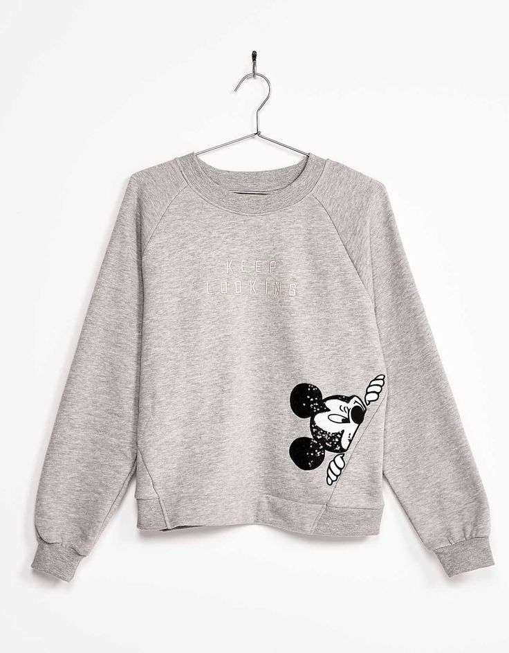 Sequinned Mickey sweatshirt. Discover this and many more items in Bershka with new products every week