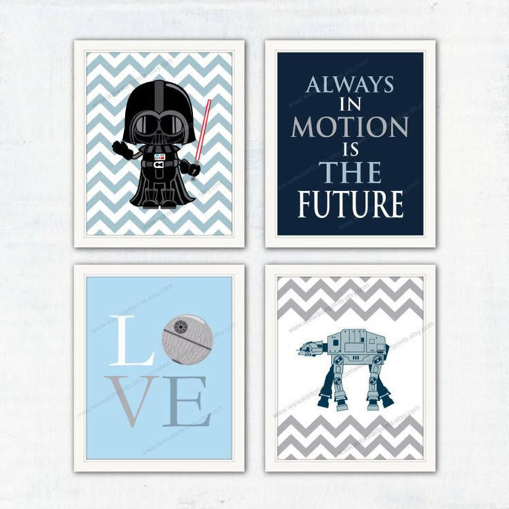Darth Vader AT-AT Nursery Prints. Star Wars Poster. Gray Navy Blue Boy Bedroom Decor. Modern Home Wall Decor. Gift for Kids. Item No.: 036 by waiwaiartprints on Etsy https://www.etsy.com/listing/248453043/darth-vader-at-at-nursery-prints-star