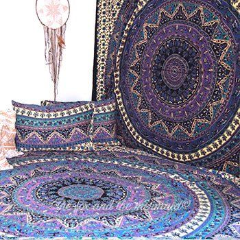 Purple Rhapsody Large Tapestry in Beige