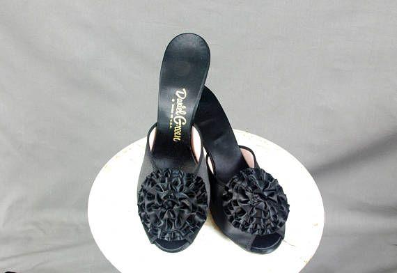 Daniel Green Slippers  Black Daniel Green Boudoir Slippers