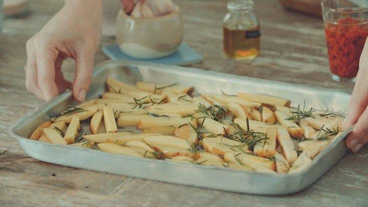 Receita de batata frita saudável