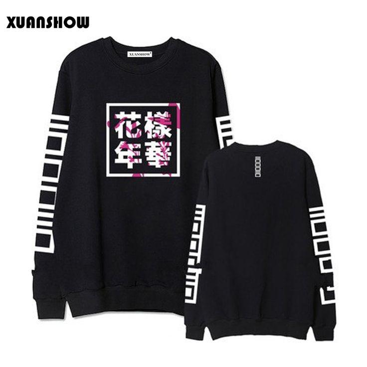 BTS Hoodies Vrouwen Bangtan Jongens Album Fans Kleding Brief Gedrukt O Hals Lente Herfst Winter Sweatshirts