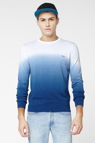 debaffda27fca Lacoste - L!VE Supima Cotton Dip-Dye Sweater