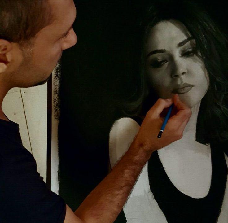 Burhan working on a pencil drawing https://www.youtube.com/watch?v=TQIbMHNYF3U