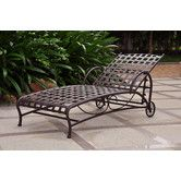 Found it at Wayfair - International Caravan Santa Fe Wrought Iron Patio Chaise Lounge