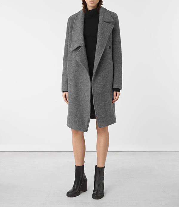 Womens Ellis Coat (Grey) - product_image_alt_text_1