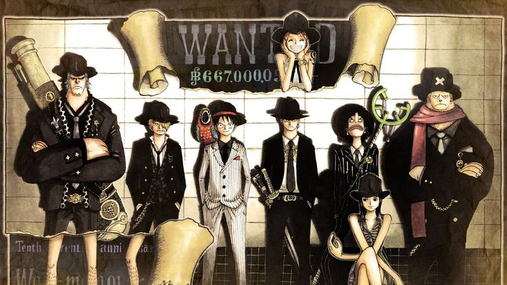 One Piece Crew Wanted Poster Wallpaper