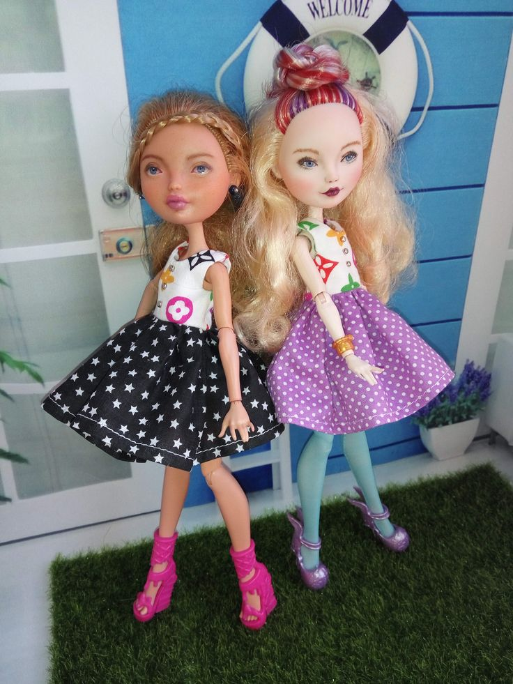 Baby-doll dresses for dolls Monster High and Ever After High