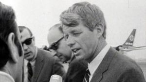 Quelques jours avant l'assassinat de Bob Kennedy... [DR] (Robert Kennedy)
