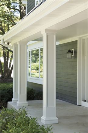 With natural pillars   James Hardie   Design IdeasBest 20  Columns ideas on Pinterest   Front porch remodel  Front  . Front Porch Columns Images. Home Design Ideas