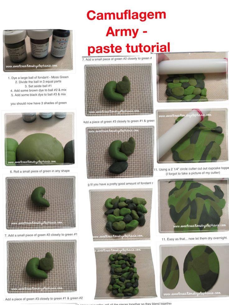 Cameo army cake tutorial
