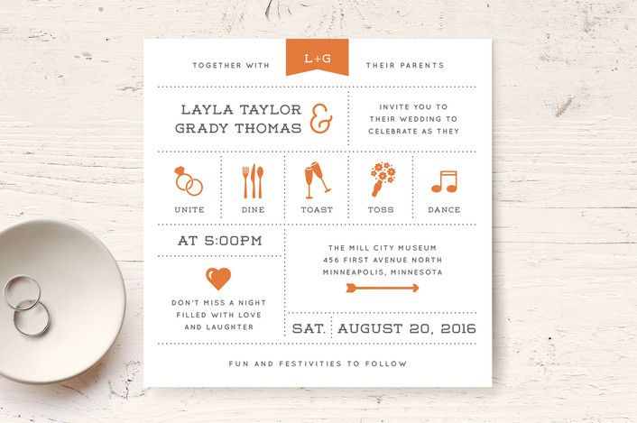 Celebrate the Day Wedding Invitations