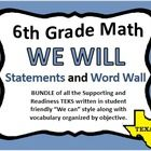 WE WILL 6th Grade Math Statements will help you implement the Fundamental 5 into your classroom.  Quality instruction begins with deliberately stat...