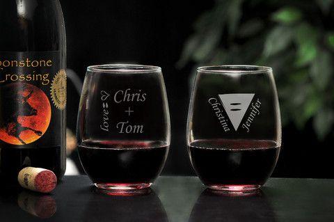 LGBTQ Stemless Wine Glass Set