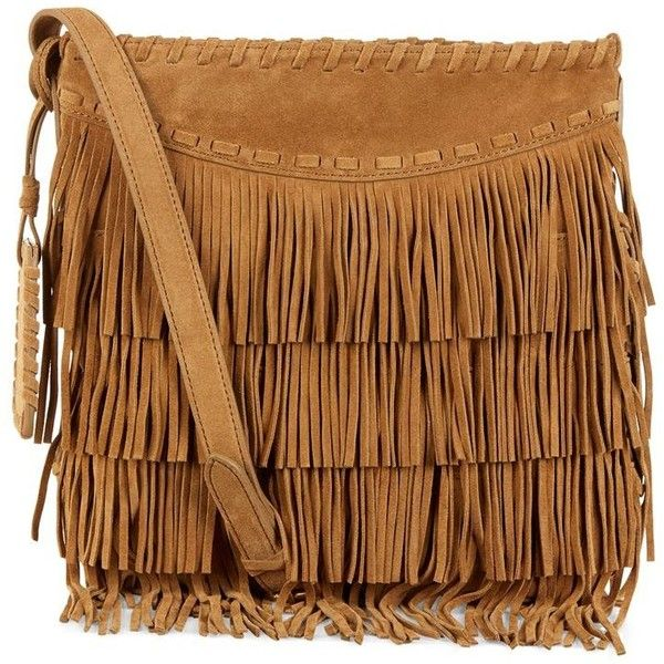 Polo Ralph Lauren Fringed Cross Body Bag featuring polyvore, fashion, bags, handbags, shoulder bags, purses, accessories, bolsas, borse, fringe purse, brown crossbody, fringe handbags, fringe shoulder bag and suede fringe handbag