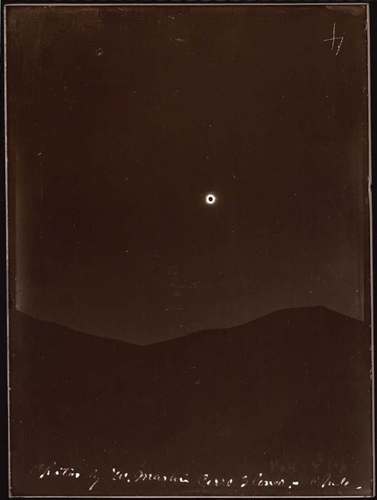 Eclipse of April 16, 1893 | Contact printed in sunlight with the original glass plate negative | Lick Observatory Plate Archive | Mt. Hamilton | University of California