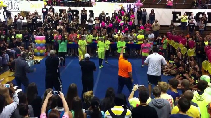 Abilene High Neon Pep Rally Teacher Dance (my school)