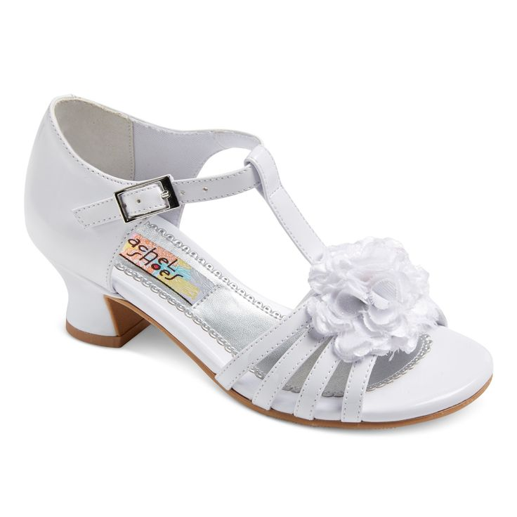 Girls' Maybelle Quarter Strap Dressy Sandals White Patent 13 - Rachel Shoes