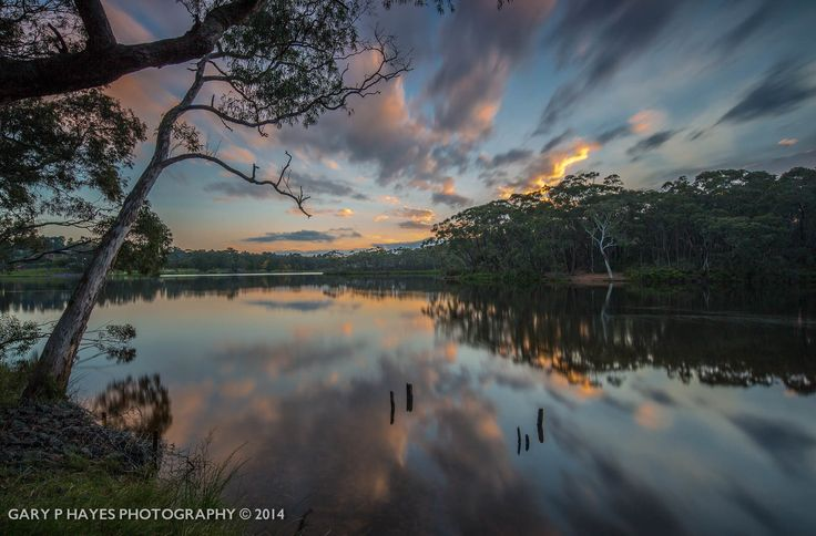 Sunset Reflections Wentworth Falls Lake by Gary Hayes on 500px