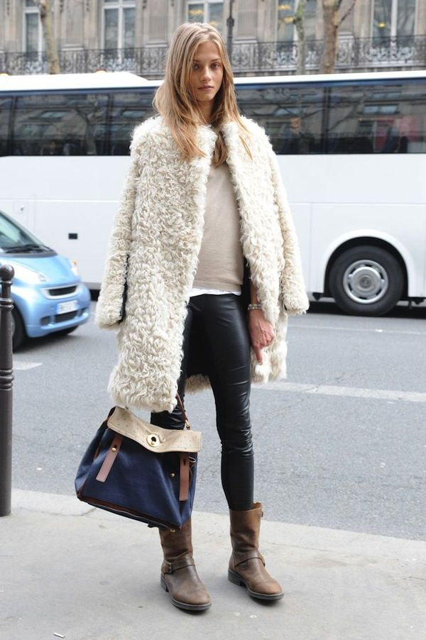 49 best Shearling images on Pinterest | Winter style, Shearling ...