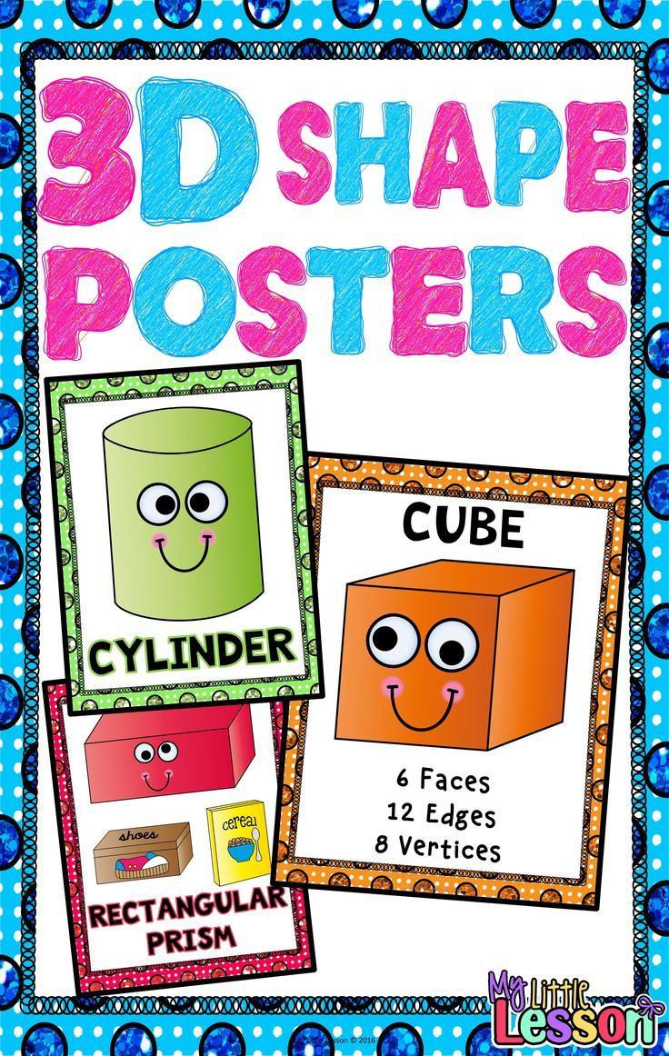 These 3D Shape Posters include three full page posters for the 3D Shapes: cone…