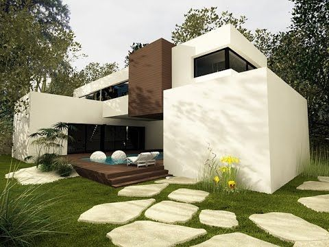 Modern Minimalist House plans and design with pictures. House CA12