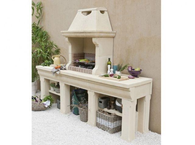 8 best cuisine du0027été images on Pinterest Garden deco, Garden ideas - beton cellulaire exterieur barbecue